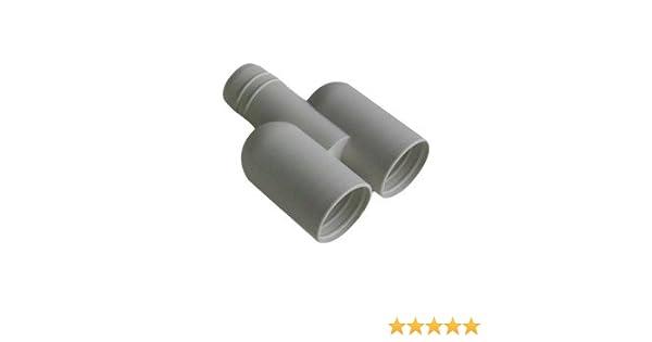 raccord rigide en y pour tuyau de condensats