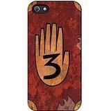 Gravity Falls Journal 3 Vintage iPhone 5/5s Case (Black Rubber)