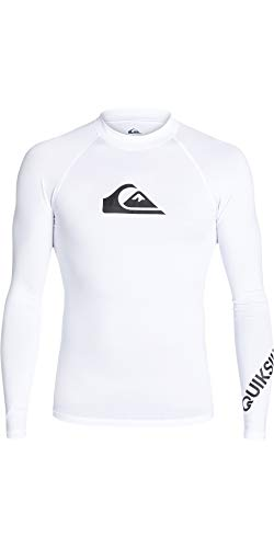 Quiksilver Herren All Time L/sl Surf Tee, White, L