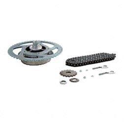Kettenkit / Kettensatz mit Kleinteilen - Simson Roller SR50-25km/h - Mofa - Mitnehmer: Z=51, Rollenkette 104 Glieder, Antriebskettenrad: Z=16