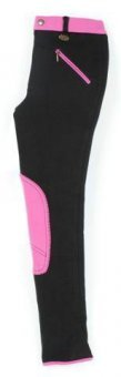 USG  Kinderreithose Emilia schwarz/pink 116