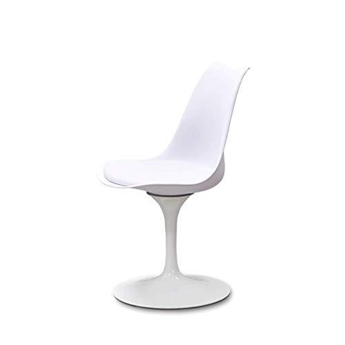 YeHuiTai Bar Chair Esszimmerstuhl mit Rückenlehne Drehbarer Ledersitz Make-up Stuhl Nagelhocker Ergonomisches Design Metall Eisenplatte Basis Fmn (Farbe : B)