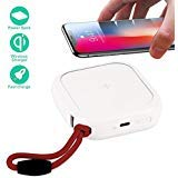 MiPow Power Cube 10000+ mAh Mobile Power Bank mit qi Wireless Ladefunktion, für iPhone und Alle Anderen Handy (Weiß)