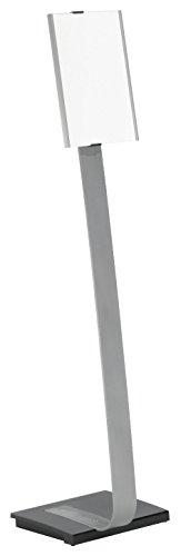 DURABLE 481223 - Info Sign Stand, espositore da pavimento, A4, alluminio, orientabile in senso verticale o orizzontale, argento metallizzato