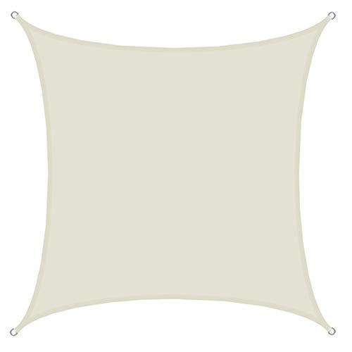 AMANKA UPF50+ Sonnensegel 4x4 UV Schutz Regenschutz Windschutz Polyester Beige