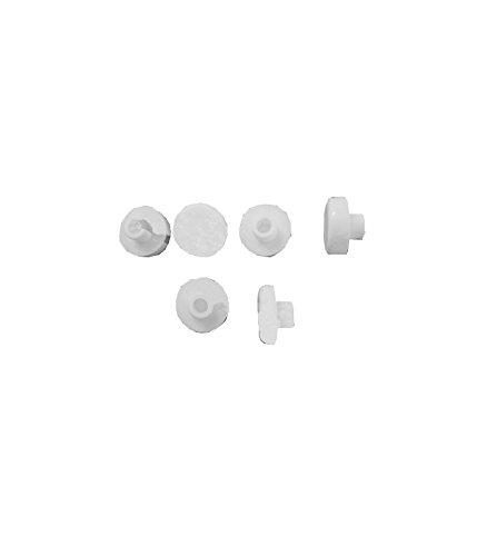 Pozzi Ginori 41981 Set Gommini per Sedile quinta/500 Bianco, Kit