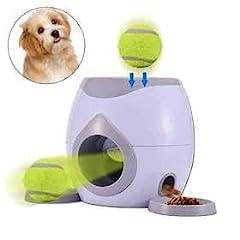 Idea Regalo - TEEPAO, Lancia-Palline per Cani, ricompensa, Gioco interattivo IQ per l'addestramento del Cibo per Cani di Piccola Taglia e Grande, con 1 Cucchiaio, 1 Baseball, 2 Piatti Staccabili