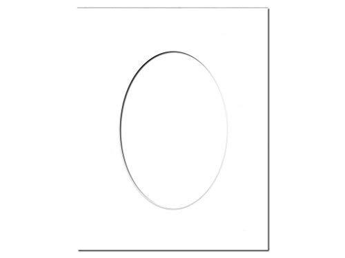 vorgeschnittenen Oval Foto Matte Board durch Accent Design Deut -