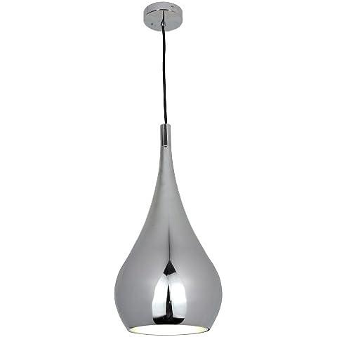 Naeve Leuchten 6025442 - Lampada a sospensione in stile retrò con cavo in tessuto, 45 x 20 cm