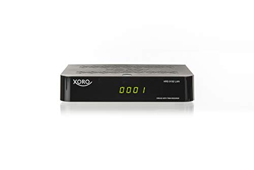 Xoro HRS 9192 Twin Receiver (DVB-S2, HDTV PVR Ready, USB 2.0, FTA, LAN) Black