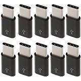10 adaptadores de Datos Micro USB a USB 3.1 Tipo C para Samsung Galaxy S9 S8 Plus...