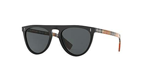 BURBERRY Sonnenbrillen (BE-4281 375781) glänzend schwarz - bedruckt beige - grau polarisierte