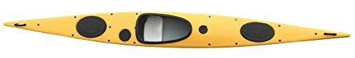 günstiges Tourenkajak SeaFi LV Kajak mit Top Performance Kajak Kanu Wanderkajak, Farbe:Gelb, Ausstattung:Standard