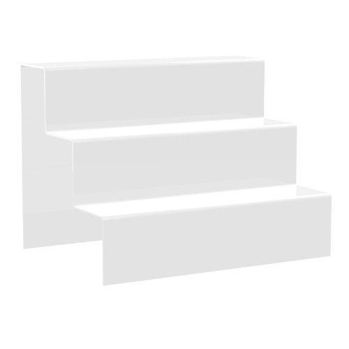 Displaypro Acryl Weiß groß 3 Stufen Schaufensterdekoration Podest Säule für Schmuck POS - VERSANDKOSTENFREI!