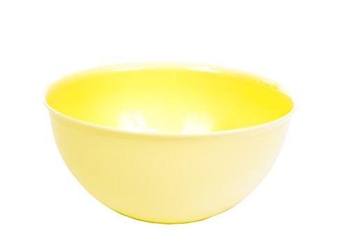 Hobby Plastic 28cm Colourful Mixing Salad Bowl Kitchen Baking (Pastel Yellow)