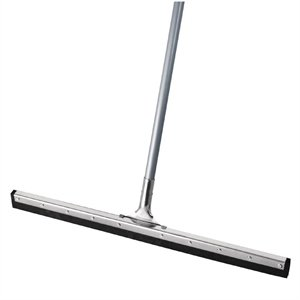 Heavy Duty 30in Galvanised Large Squeegee WITH Long Handle - Floor Tiles Window Cleaning Cleaner Commercial Squeegee