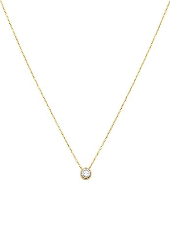 CHRIST Gold Damen-Kette 333er Gelbgold 1 Zirkonia One Size, gold