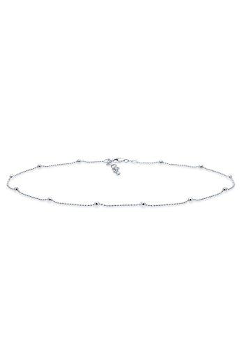 Elli Damen Schmuck Echtschmuck Halskette Kette Gliederkette Choker Trend Blogger Sterling Silber 925 Länge 36 cm