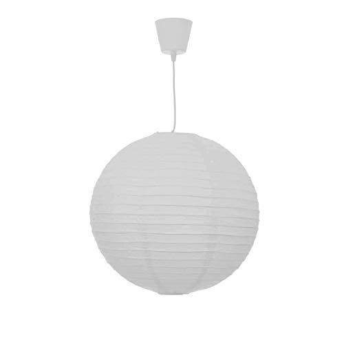 Pantalla lampara de techo blanca de papel 50x50 cm