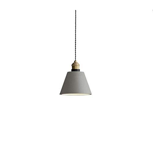 DRQ LED Nordic Kreative Einzelkopf Zement Pendelleuchten Retro Bar Café Schlafzimmer Esszimmer Deckenleuchte 220 V Kronleuchter E27(Keine Glühbirne),A-15 * 14.5cm (Led-a15-glühbirnen)