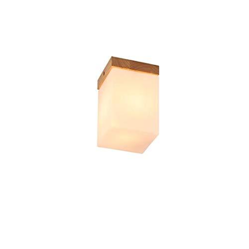 Holz-rahmen Deckenleuchte (Led Wandleuchte Kronleuchter Kreative Holz Deckenleuchten Massivholz Rahmen Glas Lampe)
