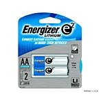 Lithium Battery, AA, 2/PK, Sold as 1 Package Eveready Energizer Lithium Aa-batterie