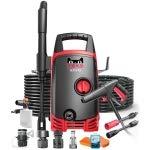 RISHIL WORLD 1400W High-Power Household Washer Gun Cleaner Car Cleaning Pump Washing Machine Device, 220V, Standard Edition