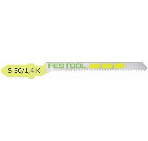 Festool Sägeblatt Carvex Stichsägeblatt S 75//4 FSG 5 Stück 499476 für Stichsäge