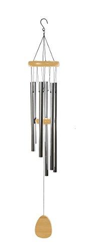 Großes Klangspiel 116 cm mit 6 Klangröhren bis 51 cm Windspiel Natur Mobile