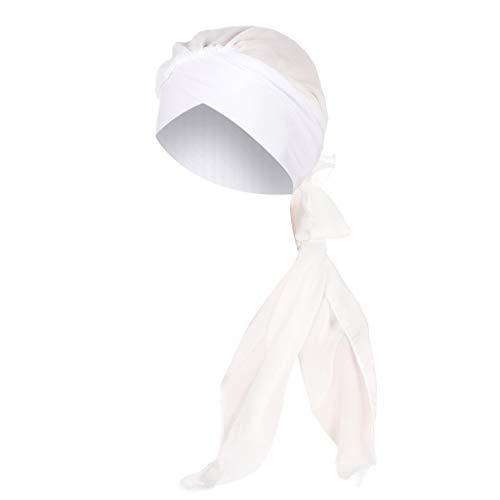 Laile Damen Mütze Haube Elegantes Unifarbe Indien-Hut Schicke Langer Abschnitt Tücher Casual Chiffon Sturmhauben für Tanzparty Reizvolles Mode Schal Kopfbedeckung Hat Mützen Wrap Cap