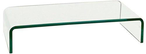 BHP TV Schrank-Aufsatz Glas Fernsehtisch Glasplatte Glasaufsatz Hagen B153136-1 Transparent