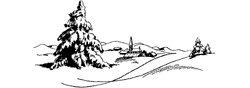 Motivstempel * Bilderstempel * Stempel * Winterlandschaft Weihnachten