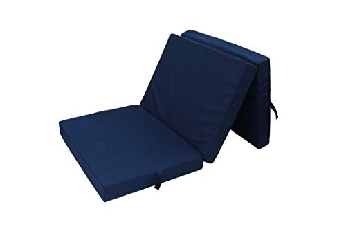 HERLAG Klappmatratze Senior (Farbe blau, Maße 195x85 cm, Gästebett, Faltmatratze, Bezug waschbar)...