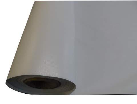 Lona de PVC, impermeable, resistente a los rayos UV, de tela blanca, por metro