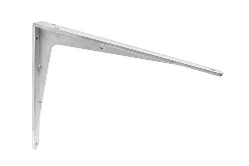 GedoTec® Schwerlastkonsole Winkel-Konsole Sparta aus Aluminium | 500 x 450 x 47 mm | Schwerlastträger Tragkraft 400 kg | Regalträger Alu natur | Markenqualität für Ihren Wohnbereich