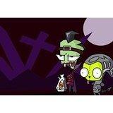 Invader Zim Kostüm Halloween Moon Gir Zim Mauspad, Mousepad (25,9x 21,1x 0,3cm)