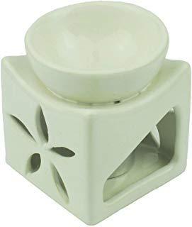 Tom Barrington Aromatherapie Öl-Wärmer Ätherische Öle Porzellan Dekoration Lotusblüte Eierschale Weiß - Porzellan Wärmer