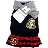 SELMAI Student Uniform Schal Paar Hunde Kostüm Winter, für Kleine Hund Katze Puppy, L, Mädchen (Paar Uniform Kostüm)