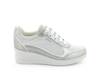 Geox , Herren Sneaker Mehrfarbig Grey/Silver LT GREY/SILVER