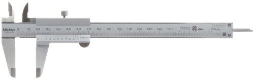 MITUTOYO Präzisionsmessschieber mit Feststellschraube DIN 862 Messbereich 0-150 mm, 1 Stück, 530-101