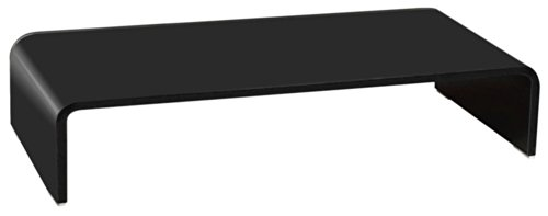 TV Schrank cube verre télévision table dessus verre table en verre noir laqué HAGEN B153136-4