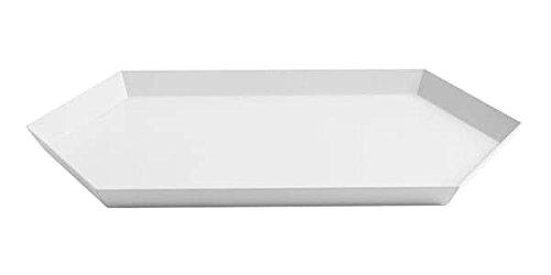 Kaleido, Plateaux en Acier laqué, Existe en Cinq astucieuses Formes géométriques pour des usages Multiples - Kaleido M - 33 x 19 cm, Blanc