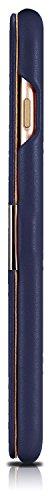 Custodia Mobiskin per Apple iPhone 8 e iPhone 7 (4,7 pollici) / Case con rivestimento esterno in vera pelle / Custodia protettiva con supporto apribile lateralmente / Astuccio per telefono / Cover ult Blu
