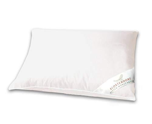 Klosterdorf Bettenmanufaktur Premium Kopfkissen \'\'natürlich\'\'   40x60 cm   430 Gramm   Handarbeit aus Deutschland   Für einen gesunden Schlaf