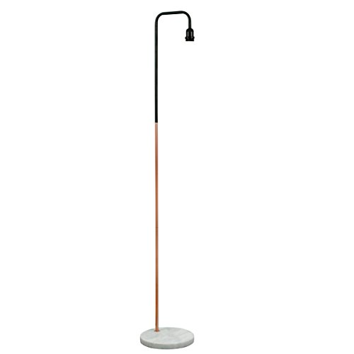 retro-style-black-copper-metal-white-marble-floor-lamp-base