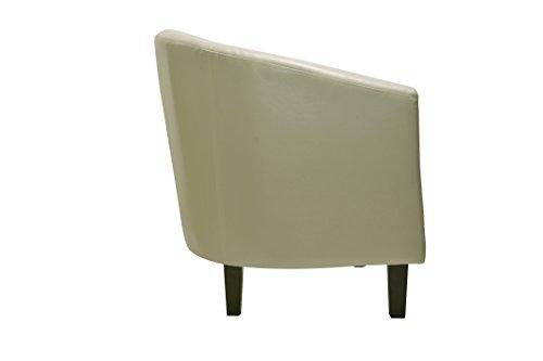 Chaisesigefauteuil-cabriolet-en-simili-cuir-couleur-crme-pour-le-salon-les-cafs