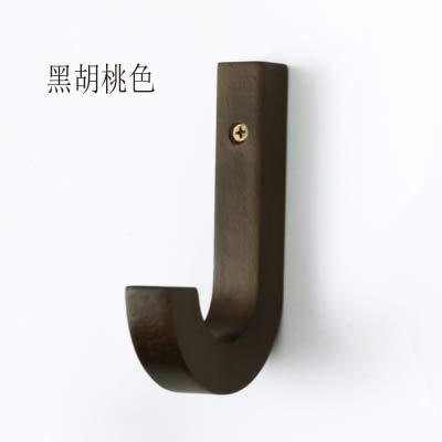 Schwarze Walnuss-hartholz-böden (qiumeixia1 Kleiderhaken, Holz, dekorativ, Wandmontage, für Kleidung, Schals, Hüte und Taschen, 3 Stück schwarz)