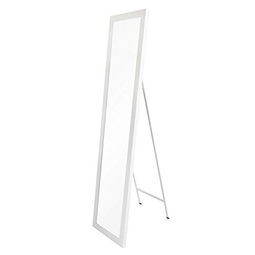 Espejo pie nórdico Blanco plástico Dormitorio 37x157