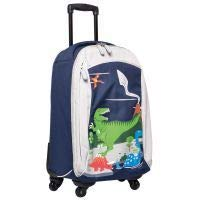Childrens Carry On Suitcase on Wheels for Girls and Boys - Dinosaur Design. Ideal Cabin Luggage/Childrens Hand Luggage Trolley Bag/Suitcase.