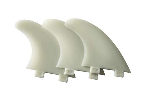 Liquida Surfboard Finnen, FCS System, G5 Medium, 3 Stück, inkl. Fin-Key (hellgrün)
